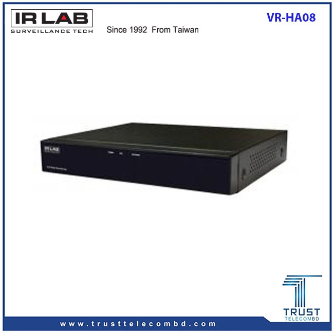 IRLAB VR-HA08 8 CH XVR Digital Video Recorder
