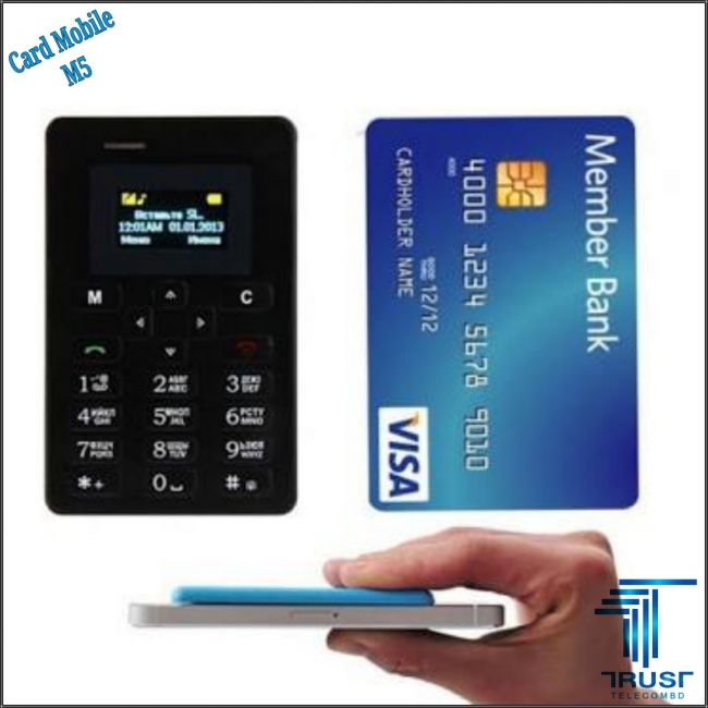 Ultra Thin Mini Pocket Mobile Card Phone M5