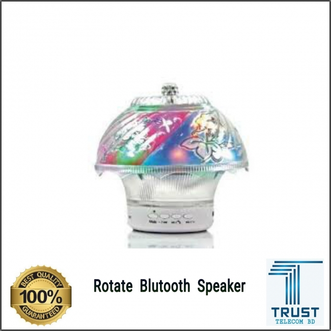 Wireless Rotate Bluetooth Speaker With Led Light 3D Color